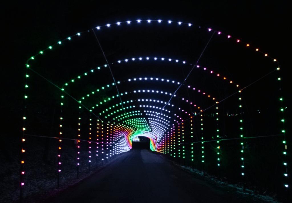 Olgebay Resort offers drive-thru Christmas lights near Pittsburgh.